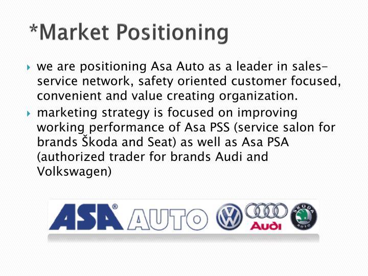 *Market Positioning