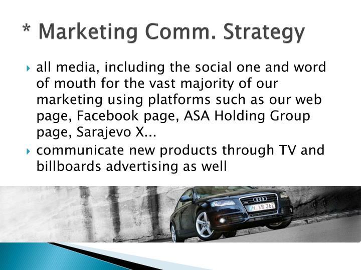 * Marketing Comm. Strategy
