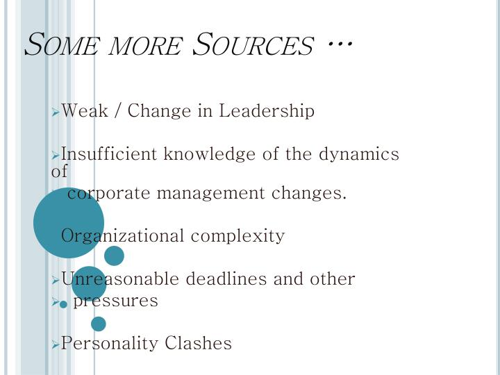 Some more Sources …