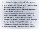 ii reasons for optimism toward golden growth