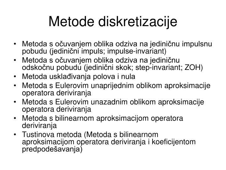 Metode diskretizacije