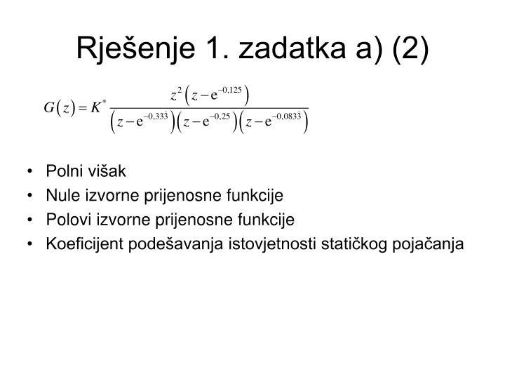 Rješenje 1. zadatka a) (2)