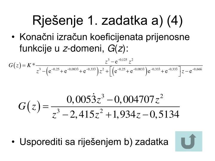 Rješenje 1. zadatka a) (4)