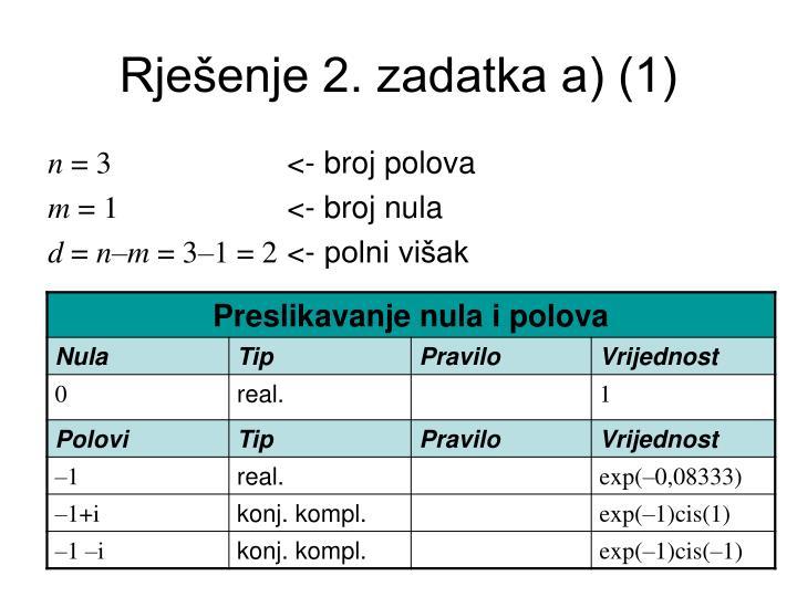Rješenje 2. zadatka a) (1)