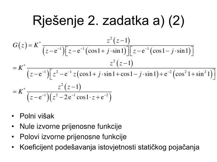 Rješenje 2. zadatka a) (2)