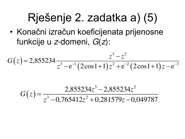 Rješenje 2. zadatka a) (5)