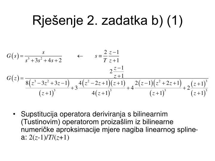 Rješenje 2. zadatka b) (1)