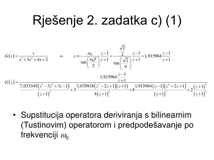 Rješenje 2. zadatka c) (1)
