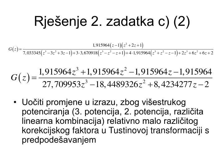 Rješenje 2. zadatka c) (2)
