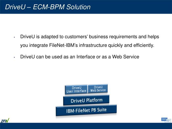 DriveU – ECM-BPM Solution