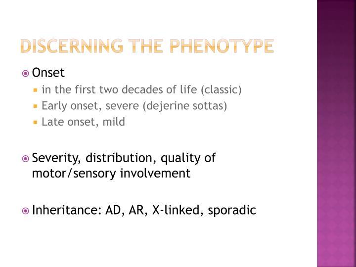 Discerning the phenotype