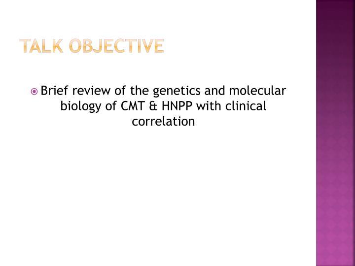Talk Objective
