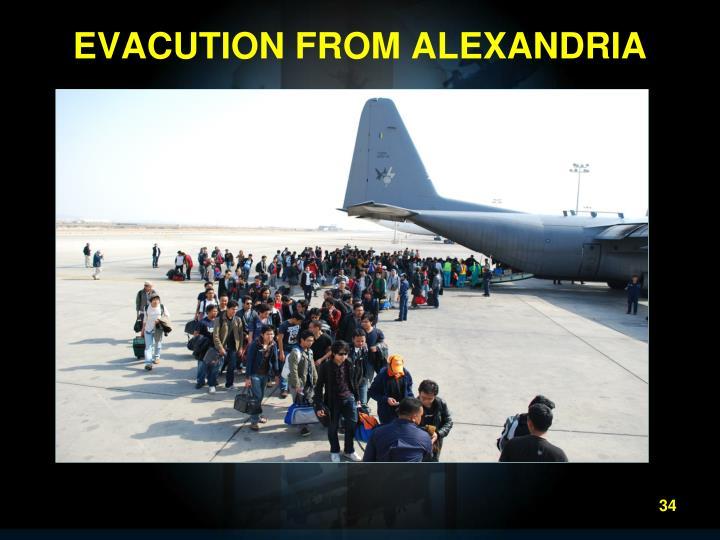 EVACUTION FROM ALEXANDRIA