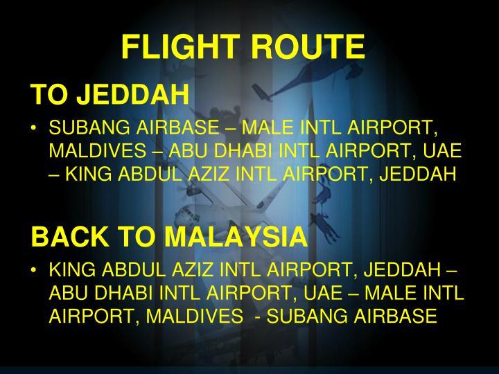 FLIGHT ROUTE