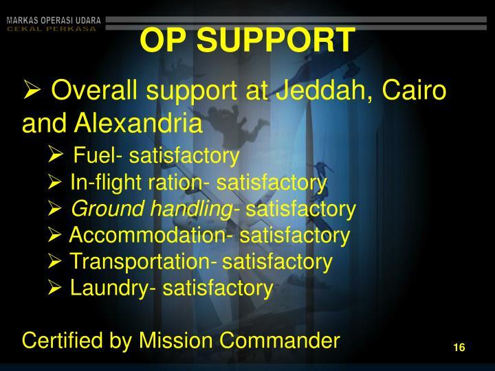 OP SUPPORT