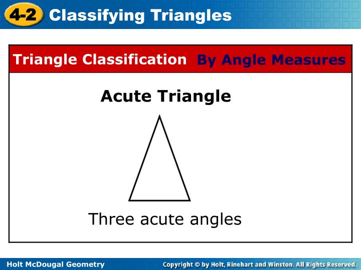 By Angle Measures