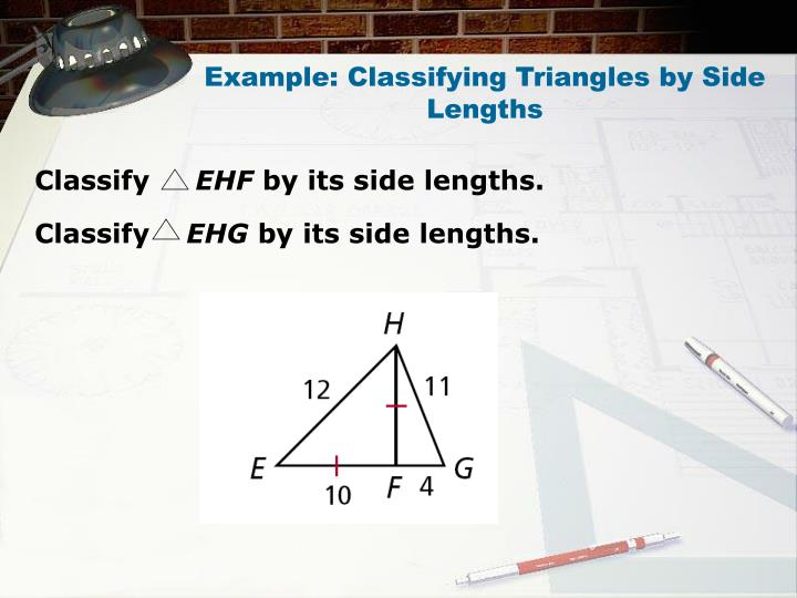 Example: Classifying Triangles by Side Lengths