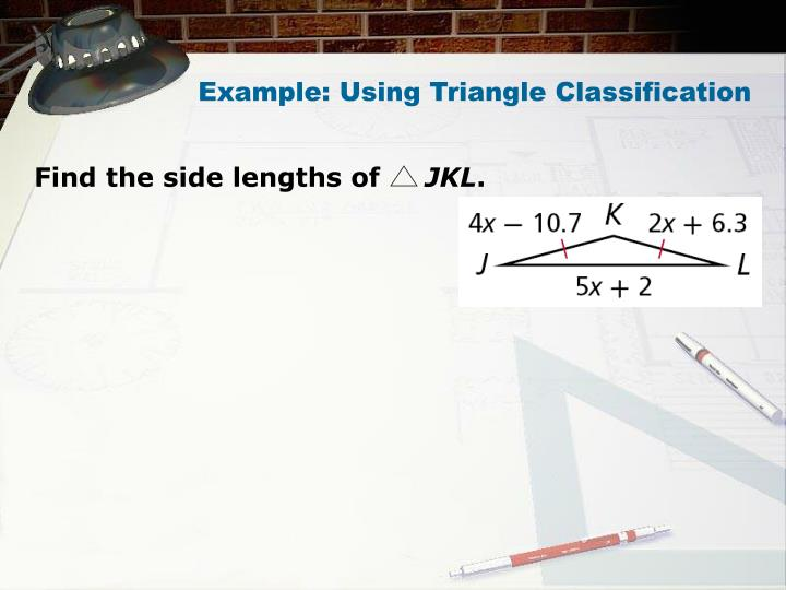 Example: Using Triangle Classification