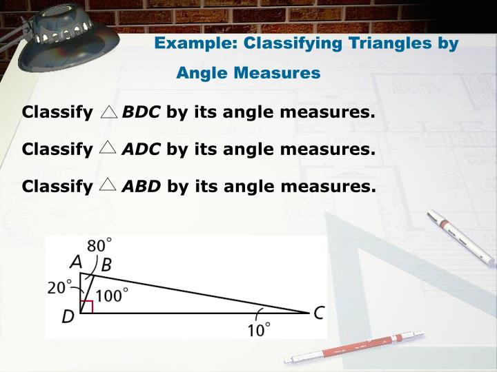 Example: Classifying Triangles by