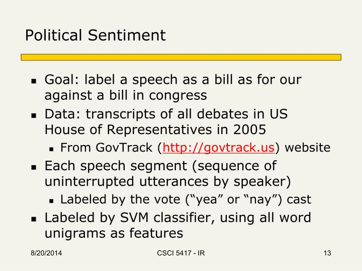 Political Sentiment