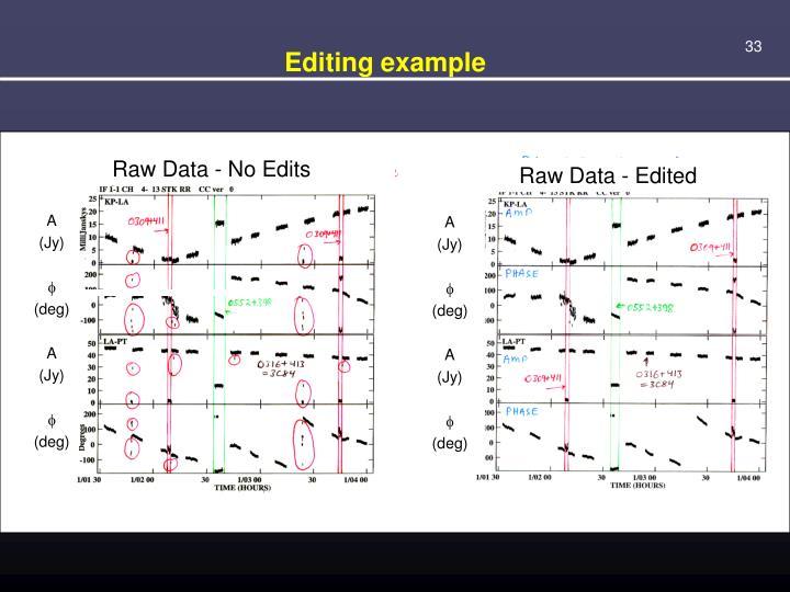 Editing example