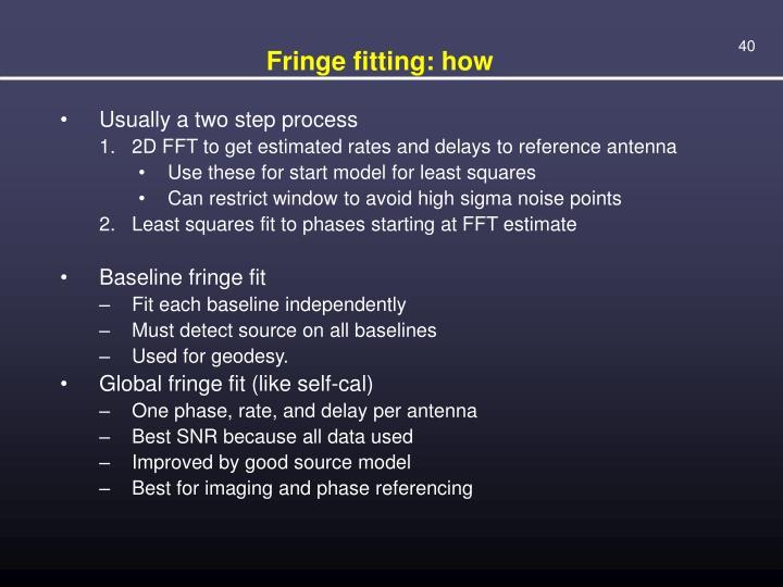 Fringe fitting: how