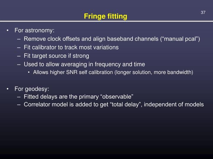Fringe fitting