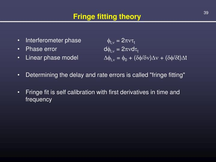 Fringe fitting theory