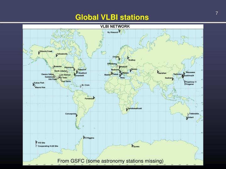Global VLBI stations