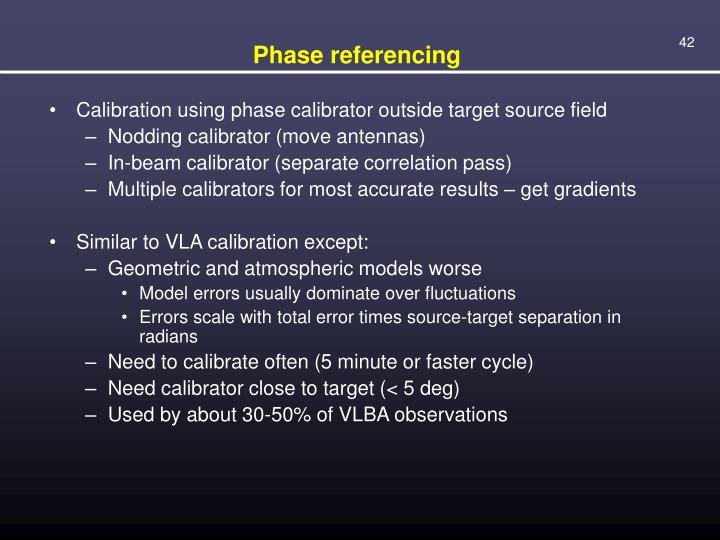 Phase referencing