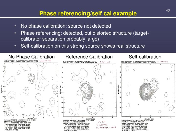Phase referencing/self cal example