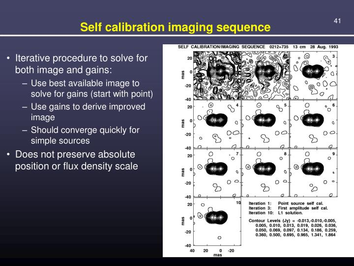Self calibration imaging sequence