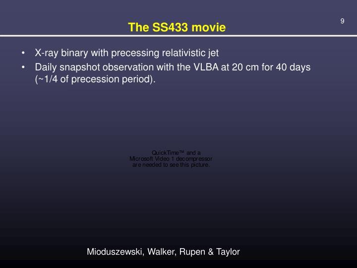 The SS433 movie