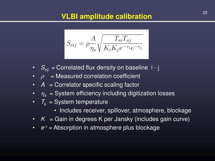 VLBI amplitude calibration