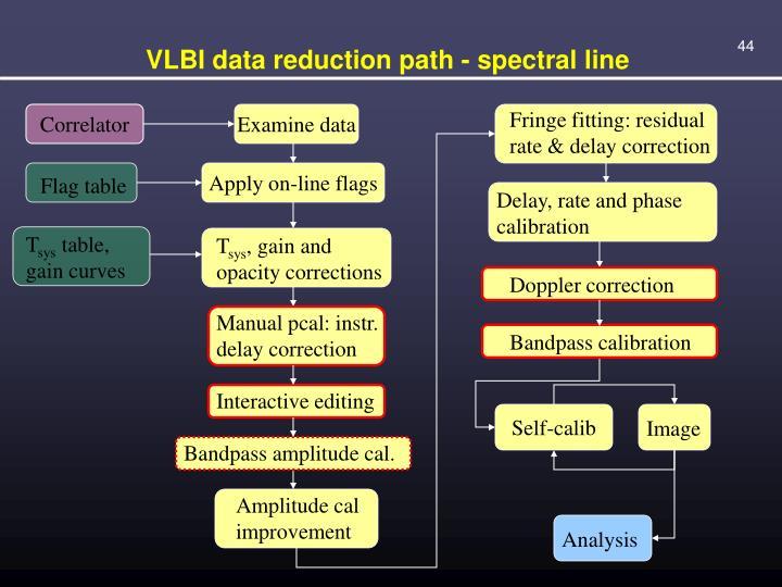 VLBI data reduction path - spectral line