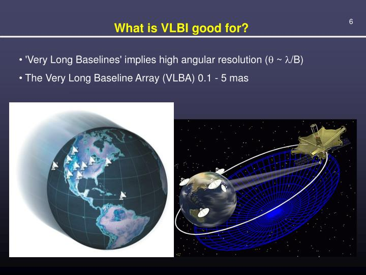 What is VLBI good for?