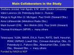 main collaborators in the study