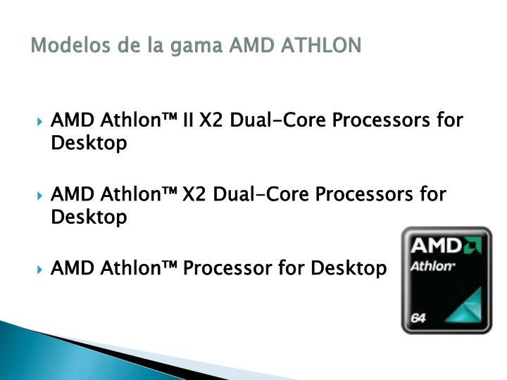 Modelos de la gama AMD ATHLON