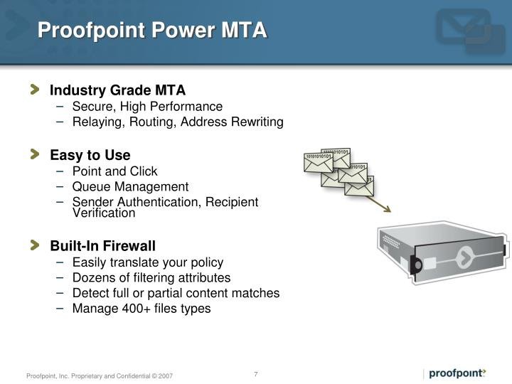 Proofpoint Power MTA