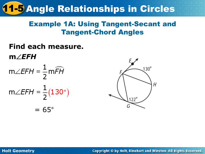 Example 1A: Using Tangent-Secant and