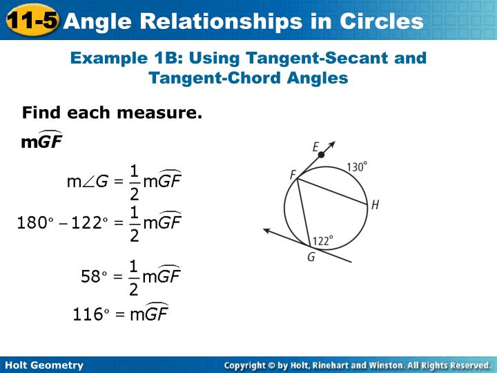 Example 1B: Using Tangent-Secant and