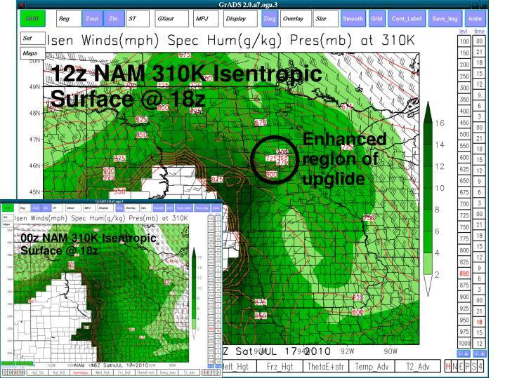 12z NAM 310K Isentropic Surface @ 18z