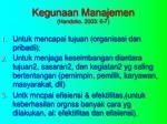 kegunaan manajemen handoko 2003 6 7