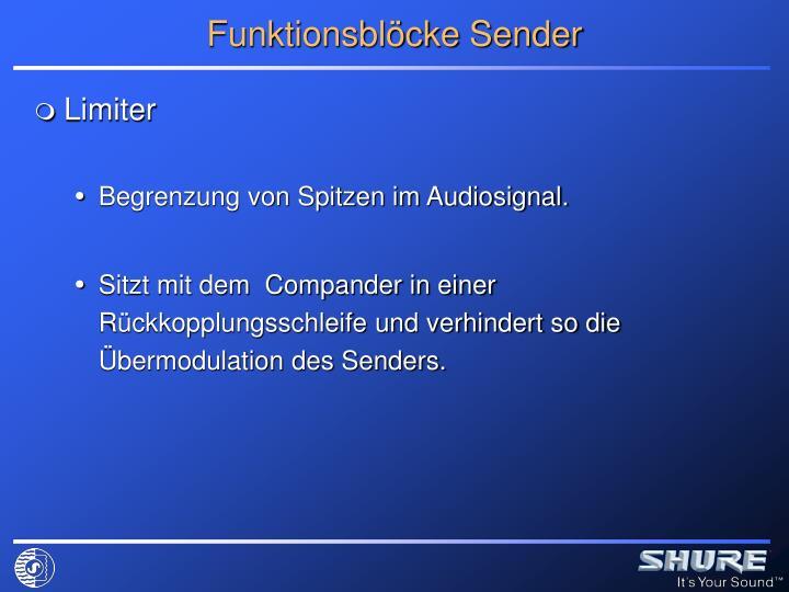 Funktionsblöcke Sender