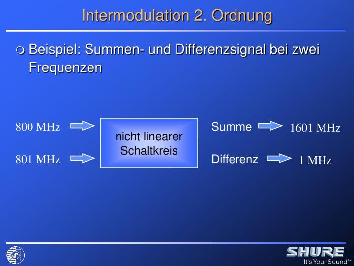 Intermodulation 2. Ordnung