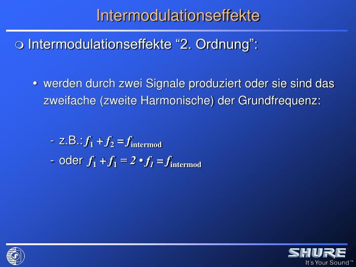 Intermodulationseffekte