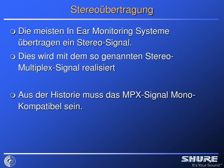 Stereoübertragung