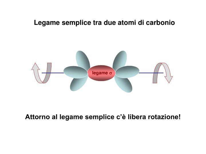 Legame semplice tra due atomi di carbonio
