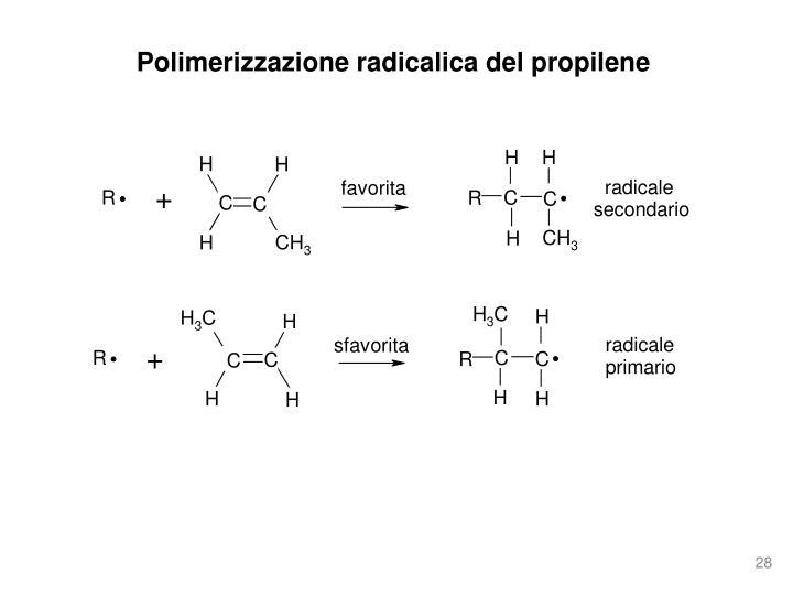 Polimerizzazione radicalica del propilene
