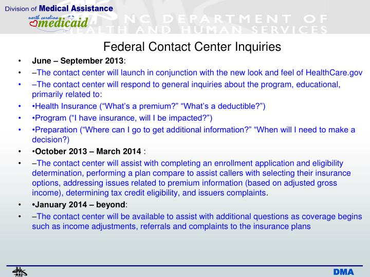 Federal Contact Center Inquiries